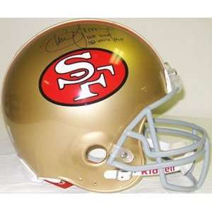 Steve Young Autographed Helmet   Authentic  Sports