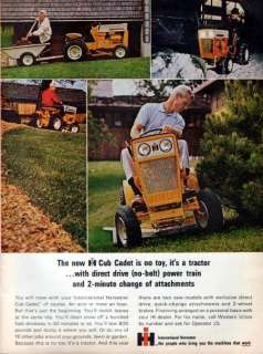 1964 International Cub Cadet Tractor Original Color Ad
