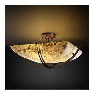 ALR 9714 25 DBRZ Alabaster Rocks 8 Light Semi Flush Mount Lighting in