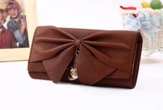 Women Ladies Fashional Design Long PU Wallet Clutch Purse Bag