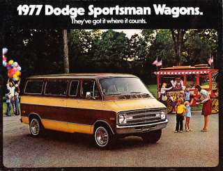 1977 Dodge Sportsman Wagon Van Deluxe Sales Brochure