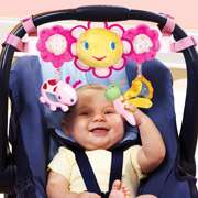 Car Seat and Stroller Toy Bar, Pink Bright Starts Petal Pusher Car