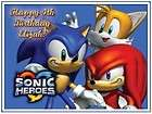 Sonic #1 Edible CAKE Icing Image topper frosting birthday party