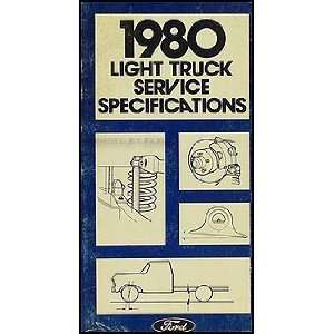 Ford Pickup and Van Service Specifications Book Original Ford Books