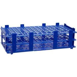 BrandTech 4340001 13mm 84 Tubes Blue Polypropylene Test Tube Rack, 6 x