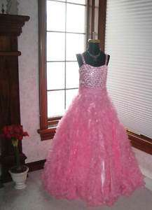 Tiffany 13269 Pink Full Girls Pageant Gown Dress 12