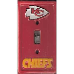 KANSAS CITY CHIEFS NFL LIGHT SWITCH