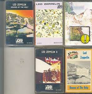 CASSETTE TAPES LED ZEPPELIN HOUSES OF THE HOLY/IV/III/II ALBUM No.99