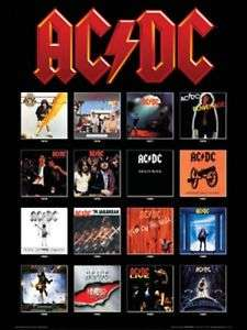 AC/DC ALBUM COVERS    Large New Color Poster