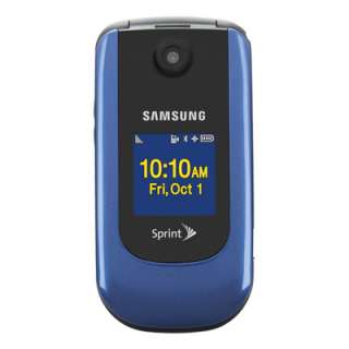 IN BOX +BONUS SAMSUNG M360 SPRINT SPH M360 FLIP BLUE CAMERA PHONE