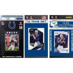 NFL Indianapolis Colts 3 Different Licensed Trading Card