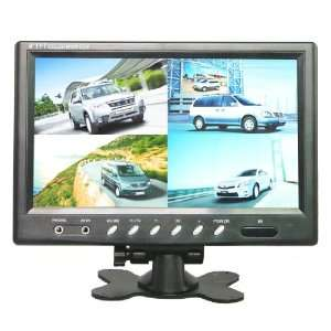 9 Inch QUAD Color TFT LCD Rearview Monitor Screen for Car