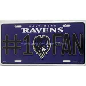 Baltimore Ravens #1 Fan NFL Football License Plate Plates