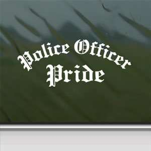 Police Officer Pride White Sticker Car Vinyl Window Laptop