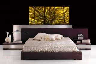 METAL PAINTING MODERN ABSTRACT WALL ART SCULPTURE LARGE