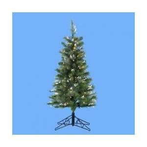 4 Pre Lit Artificial Pine Christmas Tree   Clear Lights