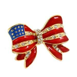 Go USA American Flag Ribbon Fashion Ring   Team USA Ribbon