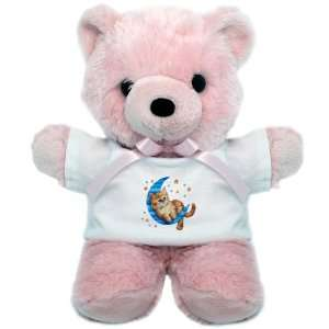 Teddy Bear Pink Moon Kitten with Stars