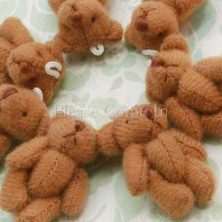 10 pieces of mini brown teddy bear suitable for craft projects.
