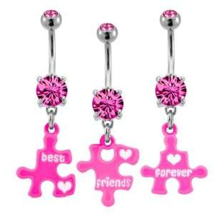 Piece Broken Best Friends Forever Puzzle  14g (1.6mm), 3/8 Length
