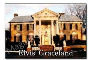 ELVIS'S GRACELAND   Tennessee TN Souvenir Fridge Magnet