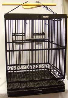 LARGE HEAVY DUTY 24x24x56 METAL PLAYTOP BIRD OR SMALL ANIMAL CAGE ON
