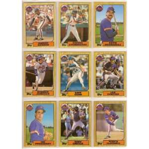 1987 New York Mets Topps Team Set w/ Traded Cards  Sports