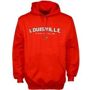 Louisville Cardinals Red Bevel Square Hoody Sweatshirt