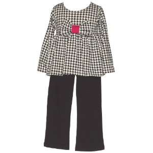 Infant Toddler Girls Black White 2 Piece Outfit 12M 4T Mad Sky Baby