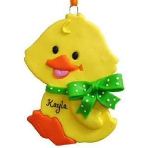 Personalized Baby Duck Christmas Ornament