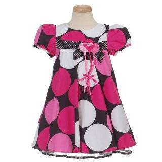 Bonnie Jean Baby Girls Pink Polka Dot Balloon Birthday Dress 12M 24M