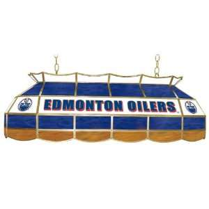 NHL Edmonton Oilers Stained Glass 40 inch Lighting Fixture