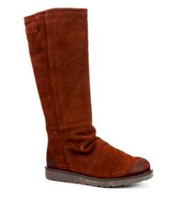 Brown (Brown) Bronx Suede Long Fur Lined Boots  236166120  New Look