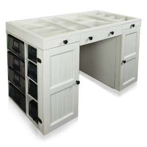 Scrapbox EZ View Craft Storage Office Desk Table Top White