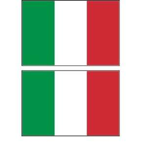 2 Italy Italian Flag Stickers Decal Bumper Window Laptop