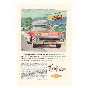 1958 Chevy Chevrolet Bel Air Sport Coupe Print Ad