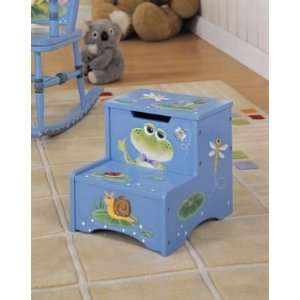 Step Stool with Storage   Frog, by Teamson Design Toys