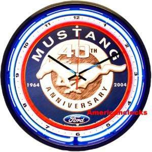 NEON Light 16Official Ford Mustang NEON Wall Clock