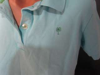 Womens LILLY PULITZER Light Blue Polo Shirt~Small~Collar Short Sleeve