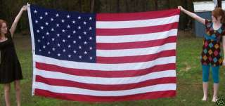 HUGE OUTDOOR USA AMERICAN FLAG 5X 8 EMBROIDERED STARS