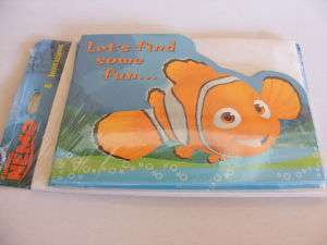FINDING NEMO Clown Fish Birthday Party Invitations NEW