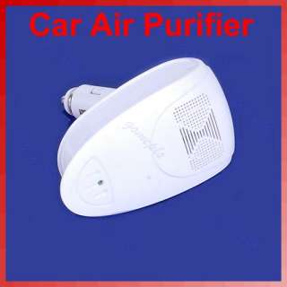White Auto Car Fresh Air Purifier Oxygen Bar Ionizer New