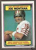 1983 Topps #4 Joe Montana RB San Francisco 49ers NRMT+