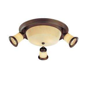 Hampton Bay 4 Light Semi Flush Mount Antique Bronze Ceiling Fixture