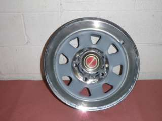 1984 1991 Ford F150 4x2 OEM Steel Rally Wheel 8 spoke with trim