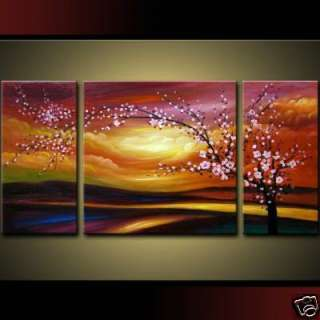 Modern Abstract Huge Art Oil Painting Flower (no frame)