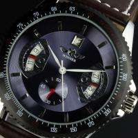 New Automatic Mechanical Leather Date Dials Wrist Mens Watch Auto 3