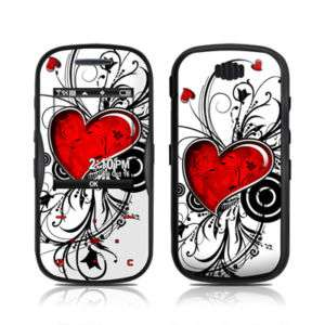 Samsung Trance U490 Skin Cover Case Decal Red Hearts
