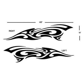 TRIBAL CAR GRAPHICS VINYL DECAL sticker auto truck flames 00027