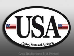 USA Sticker  american flags car decal patriotic us america euro race